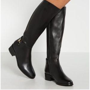 LK Bennett Georgina Tall Black Riding Boot sz 5.5